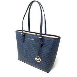 81cdd354f370 Michael Kors Bags - Michael Kors Jet Set Travel Medium Tote Bag Blue
